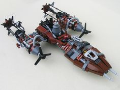 This is just BADASS! A steampunk Lego Y-wing!!!
