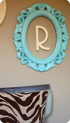 frame, spray paint, initial.  Yes, please.  :)