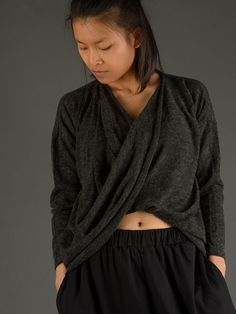 Twist Front Knitted Top