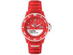 Ice-Watch PAN.BC.FIR.U.S.13 Pantone Universe Fiery Red Unisex Watch - Red