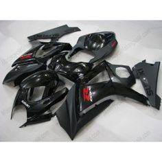 Suzuki GSX-R 1000 2007-2008 K7 Injection ABS Fairing - Others - All Black   $659.00
