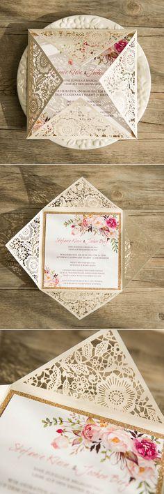 bohemian-rustic-spring-flower-glittery-gold-laser-cut-invitations-EWWS085