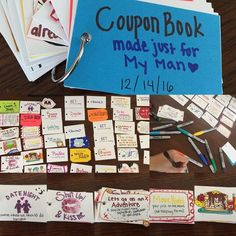 Coupon Book | Easy DIY Birthday Gifts for Boyfriend | Handmade Presents for Husband Anniversary