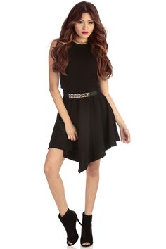 Black Day to Night Fit-n-Flare Dress @ Cicihot sexy dresses,sexy dress,prom dress,summer dress,spring dress,prom gowns,teens dresses,sexy party wear,ball dresses
