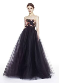 Notte by Marchesa black tulle ballgown