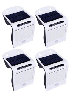 Solar Lights Outdoor Motion Sensor Light Wireless Super Bright 20 LED Waterproof Heatproof exterior Security Wall Lamp Patio Deck Yard Garden Driveway(2 pack) (4, White)
