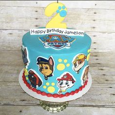 Paw Patrol Complete Cake Topper Kit Edible Image and Fondant