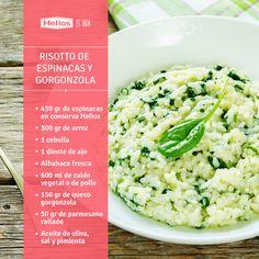 Risotto de espinacas y gorgonzola