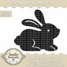 Coelhinho Fofo I, coelhinho, fofo, coelho, animal, páscoa, fofinho, cute, sweet, little, bunny, rabbit, cute bunny, bunny ears, baby, arquivo de recorte, corte regular, regular cut, svg, dxf, png, Studio Ilustrado, Silhouette, cutting file, cutting, cricut, scan n cut.