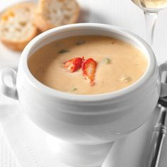 A creamy, rich soup with the sweet, ocean flavor of lobster, this bisque is a true luxury.  A harmonious blend of aromatics, cream, and sherry perfectly complements the lobster and draws out its unique flavors.  An indulgence you won't regret.  32 oz., serves 4.