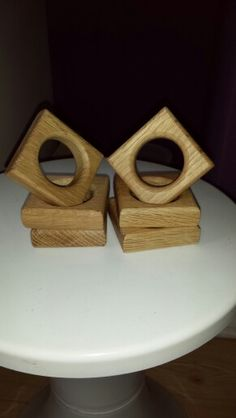 oak napkin holders