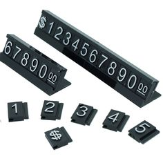 White Number Letter Black Base Price Display Counter Stand Tag (set of Pop Design, Stand Design, Price Signage, Black & White Store, Promotion Display, Retail Fixtures, Retail Signage, Shop Price, Sign Display