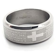 I Can Do Cross Stainless Steel Ring -- Read more reviews of the product by visiting the link on the image.