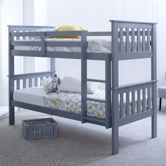 The Aaron Single Bunk Bed with Mattress is a superb bunk bed that offers a contemporary and modern look for your bedroom. The bunk bed is made using high quality pine wood, making it very strong and s Bunk Beds With Drawers, Wooden Bunk Beds, Bunk Beds With Storage, Bunk Beds With Stairs, Kids Bunk Beds, Bunk Bed Mattress, High Sleeper Bed, Single Bunk Bed, Loft Spaces