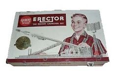 "The erector set was a building toy.  It consisted of collections of small metal beams with regular holes for nuts, bolts, screws, and mechanical parts such as pulleys, gears, and small electric motors.  It was the perfect toy for the future ""engineer""......"