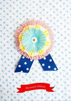 DIY award ribbons.
