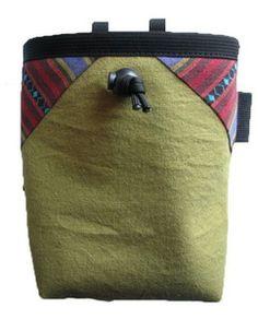 geometric hemp chalk bag