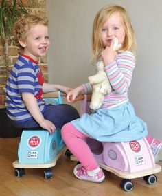Riding on their Jamm Scoots
