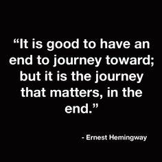 TRAVEL!  Ernest Hemingway