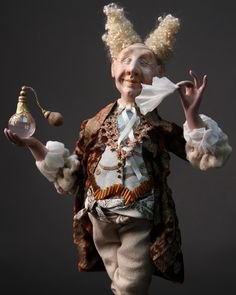Doll The royal perfumer,  Paperclay. $900.00, via Etsy.