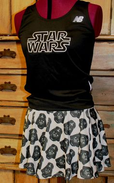 Complete Star Wars Darth Vader Running outfit tank by suestevepat, $75.00 Disney 5k, Disney Star Wars, Disney Running, Run Disney Costumes, Running Costumes, Running Skirts, Races Outfit, Running Workouts, Workout Wear