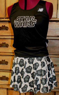 Complete Star Wars Darth Vader Running outfit tank by suestevepat, $75.00