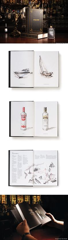 Smirnoff on-trade education DM brochure Designed by Taxi Studio - studio brochure