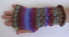 Mochi Plus Fingerless Gloves - Crystal Palace Yarns - free knit pattern (Men's version)