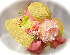 Pastel Kentucky Derby Hat Floral Spring Hat by Marcellefinery, $48.00