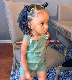 Black Baby Girl Hairstyles, Little Girls Natural Hairstyles, Mixed Kids Hairstyles, Toddler Braided Hairstyles, Cute Hairstyles For Kids, Kid Hairstyles, Cabello Afro Natural, Girls Braids, Curly Hair Styles
