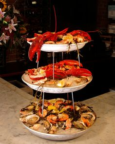 Chilled Platter w/ Lobster, 12 Shrimp, 12 Oysters, 12 Clams and Crab Meat Cocktail Elm Street, Crab Meat, Seafood Restaurant, Clams, Paella, Platter, Oysters, Shrimp, Cocktail