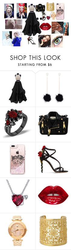 """SEVENTEEN Jeonghan"" by btsloveforlife ❤ liked on Polyvore featuring Moschino, Casetify, Dolce&Gabbana, Bling Jewelry, GET LOST, Versace and Isharya"
