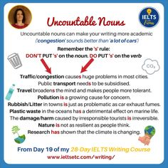 Learn English 708754060096731973 - Week 3 of my Writing Course and Challenge has a section to help you master articles, quantifiers and uncountable nouns. Source by azlisb English Grammar Rules, Teaching English Grammar, English Language Learning, English Vocabulary Words, English Phrases, Learn English Words, English Lessons, How To Teach English, Improve English Writing