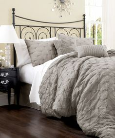 Another great find on #zulily! Gray Lake Como Comforter Set by Lush Décor #zulilyfinds
