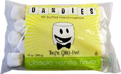 Dandies Non-GMO Air-Puffed Vegan Marshmallows by Chicago Vegan Foods -- VeganEssentials Online Store