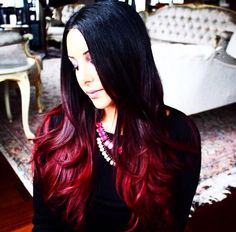 Red ombré YES!!