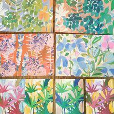 LULU DK www.luludk.com Surface Pattern Design, Floral Prints, Tropical Prints, Print Patterns, Abstract Art, Quilts, Artwork, Flowers, Instagram Posts