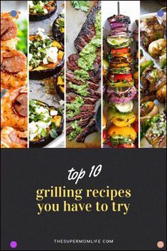 Looking for some new grilling recipes? Here are ten grilled steak, pork, chicken, shrimp, veggie and bread recipes you have to try! Grilled Steak Recipes, Grilled Pork, Grilling Recipes, Grilled Steaks, Vegetarian Grilling, Grilling Ideas, Healthy Grilling, Smoker Recipes, Barbecue Recipes