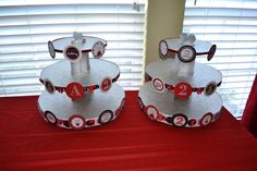 Olivia party - custom cupcake stands.