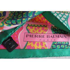40017f439807 sciarpa, pierre balmain, collection, luxe, foulard,authentique, silk  scarf,seidetuch,carré de soie, pierre balmain