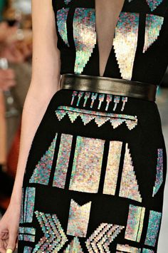 Love this! Sequined tribal print dress