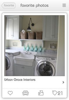 nice layout for small laundry