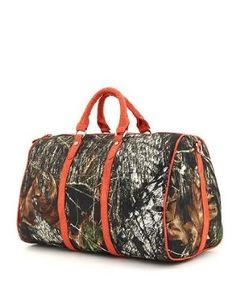 Amazon.com: Mossy Oak Orange Licensed Camouflage Large Duffle Bag: Clothing