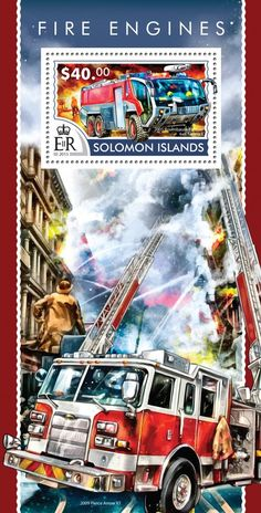 Post stamp Solomon Islands SLM 15214 b	Fire engines (2005 Rosenbauer Panther 6x6 firetruck)