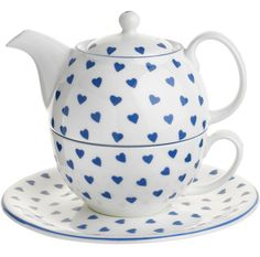 The Blue Heart Tea-for-One artfully accommodates a single cup. $45; ninacampbell.com.