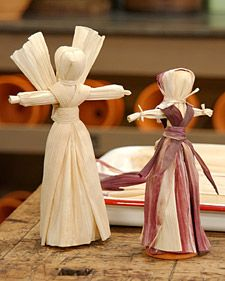 Cornhusk Dolls DIY - adorable! Perfect with the Prairie Pioneers Unit Study!