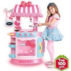 New Toys For Girls Hello Kitty Kids Kitchen Play Set Toddler Pretend Disney Toy Hello Kitty Kitchen, Hello Kitty Toys, Play Kitchen Sets, Toy Kitchen, 25 Days Of Christmas, Christmas Birthday, 10 Birthday, Toys For Girls, Kids Toys