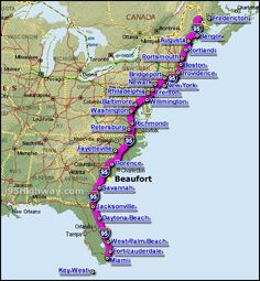 some day we are going to take our boat up and down the coast on the road trip mapeast