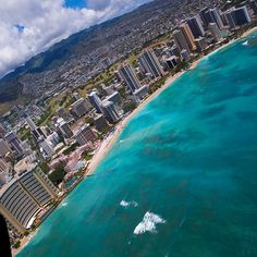 Helicopter view of Hawaii