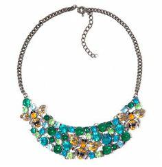 Zara Bees Colorful Gem Bib Necklace